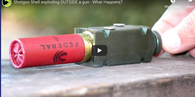 Shotgun Shell exploding OUTSIDE a gun – What Happens? – Soldier of